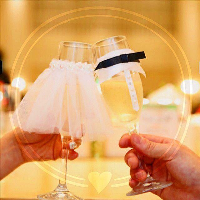 #シャンパングラス#グラスドレス 自分で作っておきながら、可愛い〜⑅❛ั◡❛ั⑅w自己満←写真色々出てきて懐かしい…