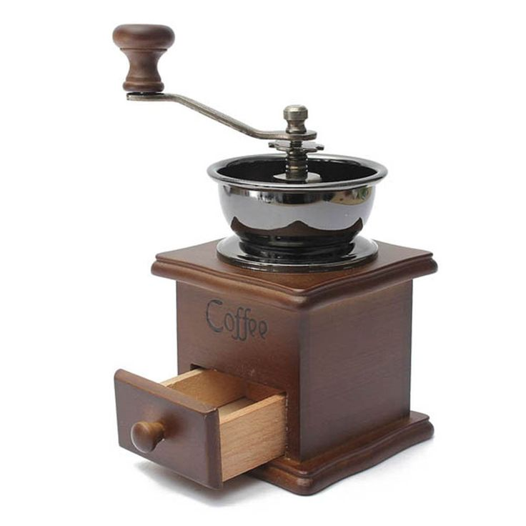 Manual Coffee Grinder Spice Herbs Vintage Style Hand Grinder Wooden Retro Burr Mill Mini Size * Learn more by visiting the image link.