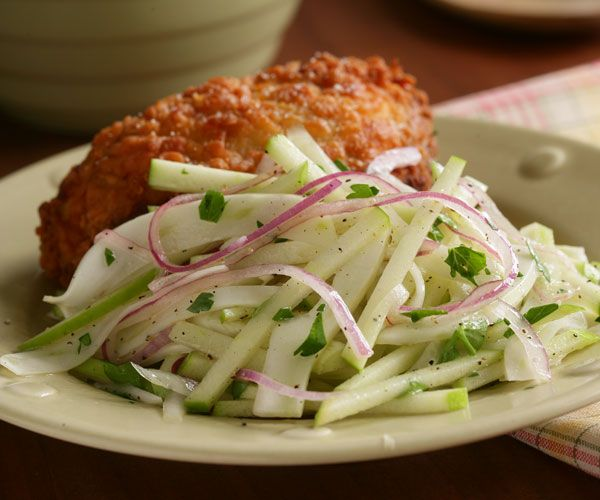 Apple & Fennel Slaw @Fine Cooking -- GREAT with grilled pork tenderloin, or pulled pork sliders!