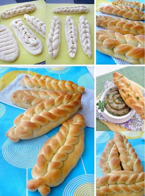 """Technique de façonnage pour pains, brioches: tressage crochet - Опитайте ...: Питки с """"плитки"""""""