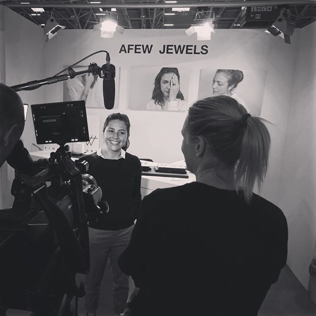 The day you get interviewed by German TV about your work @afewjewels ! 💋🇩🇪 -  #afewjewels #jewelry #gold #interview #germany #munich #tv #amazing #instamood #photooftheday #picoftheday #work #workhard #smile #fair #fashion #fashionista #style #love #moda #famous #blackandwhite #photography