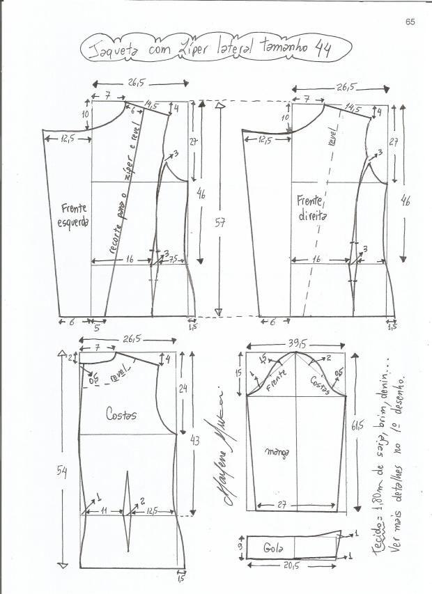 Patrón de chaqueta clásica | curso confección ropa | Pinterest ...