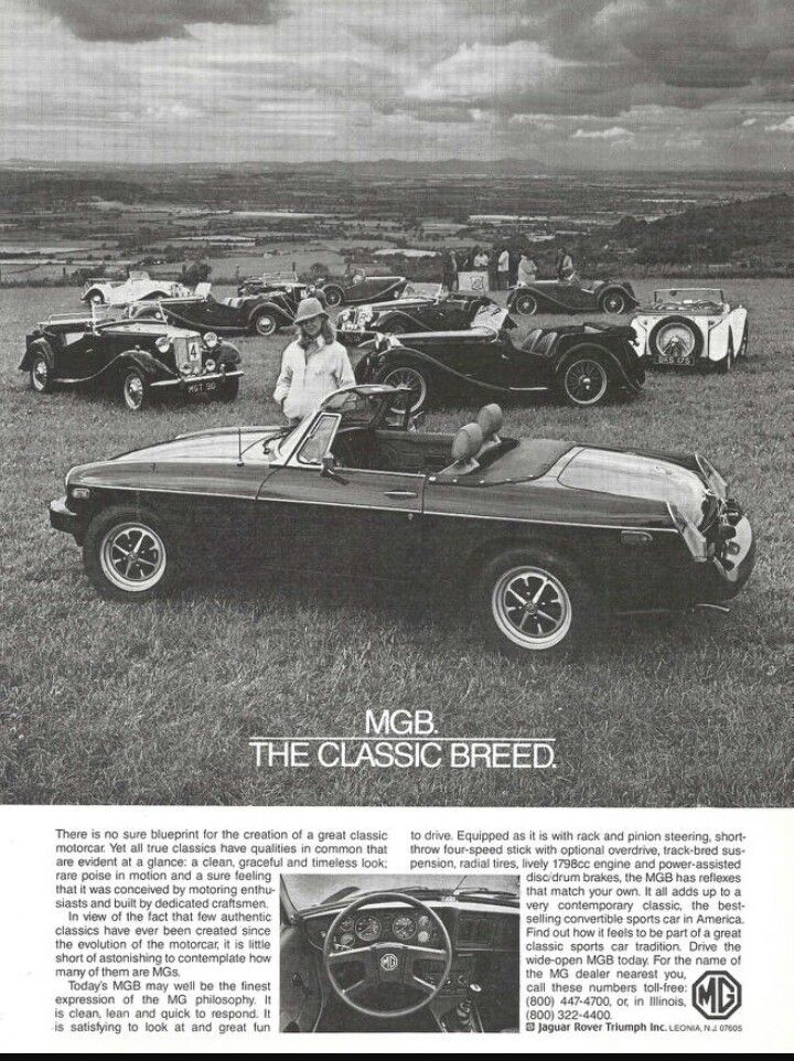 1980 mgb classic mg cars car advertising vintage ads