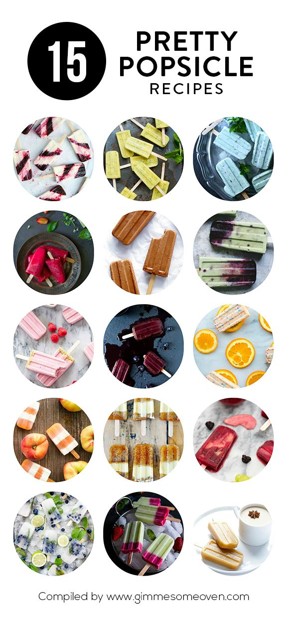 A delicious collection of pretty popsicle recipes from food bloggers   gimmesomeoven.com