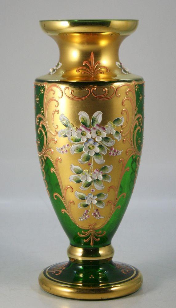 Venetian Enameled Glass Vase                                                                                                                                                                                 More