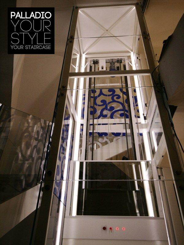 Escalera abierta / ascensor PALLADIO ELEVATOR AND STAIRCASE by Palladio Scale