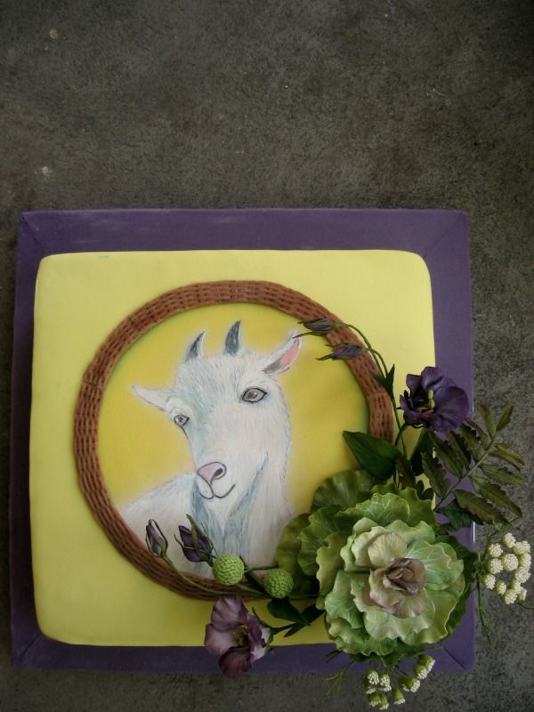 Hand painted goat