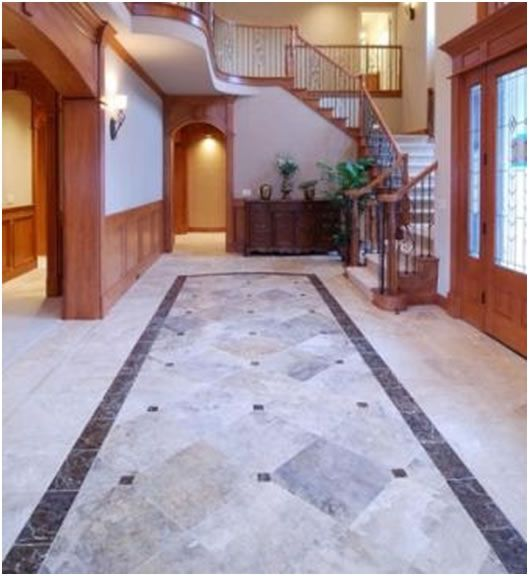 Tile rug home pinterest tile design flooring ideas for Home floor tiles design