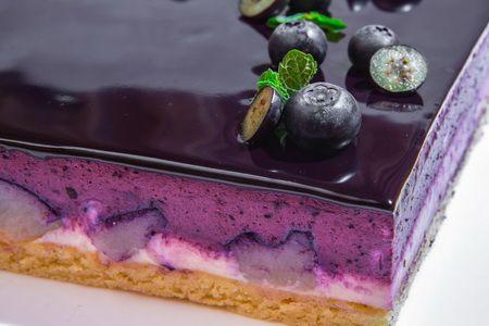 Черничный торт с грушей (фото)