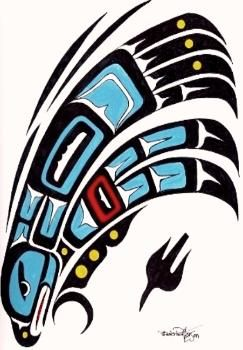 native+american+wolverine+images | Native American Art | northwest fine art | Totem Art |
