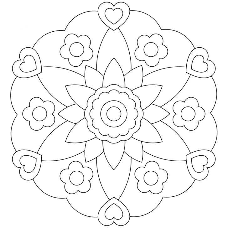 Mandala-Ausmalbild Nr. 10
