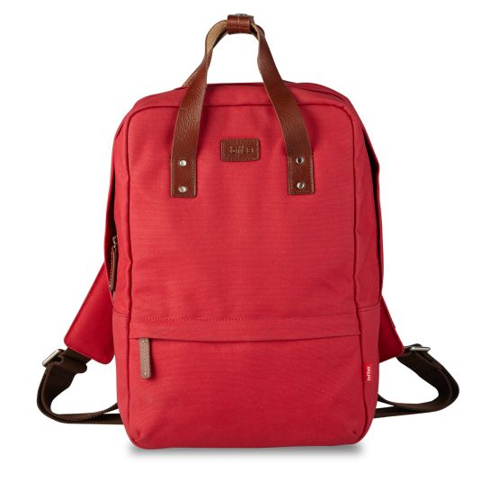 Toffee Cases Red Centennial Backpack #13inch #macbook #waxedcanvas #leather  Shop here >> http://www.toffeecases.com/en/home/49-centennial-backpack.html#