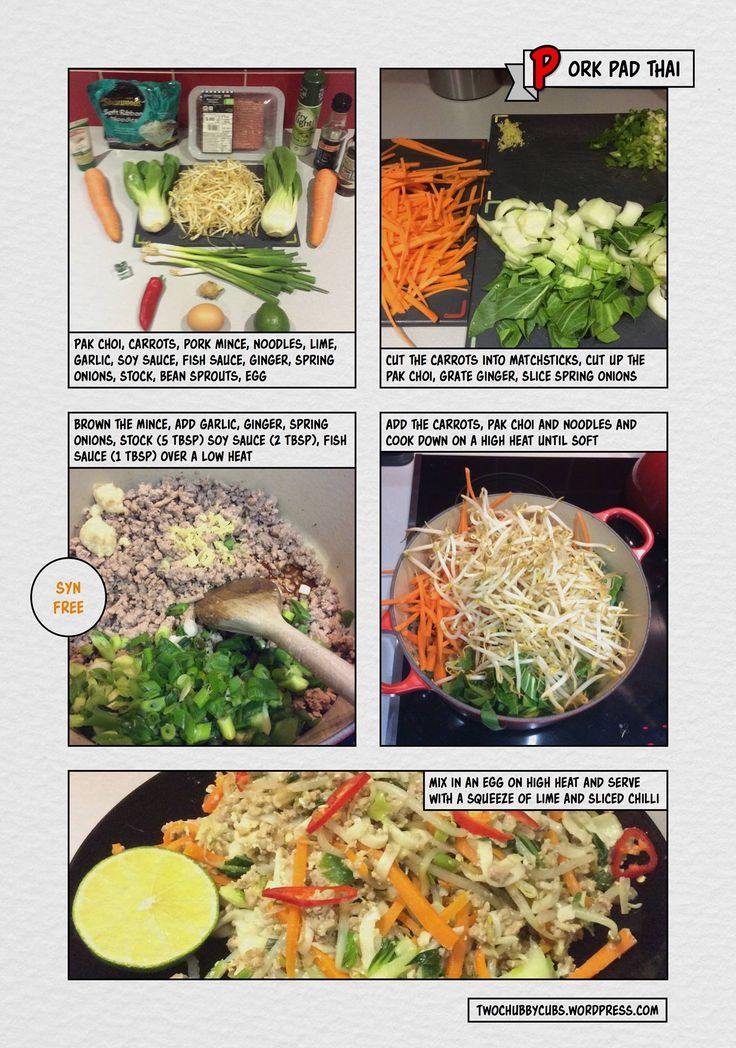 Syn free Pad Thai - Slimming World Twochubbycubs blog