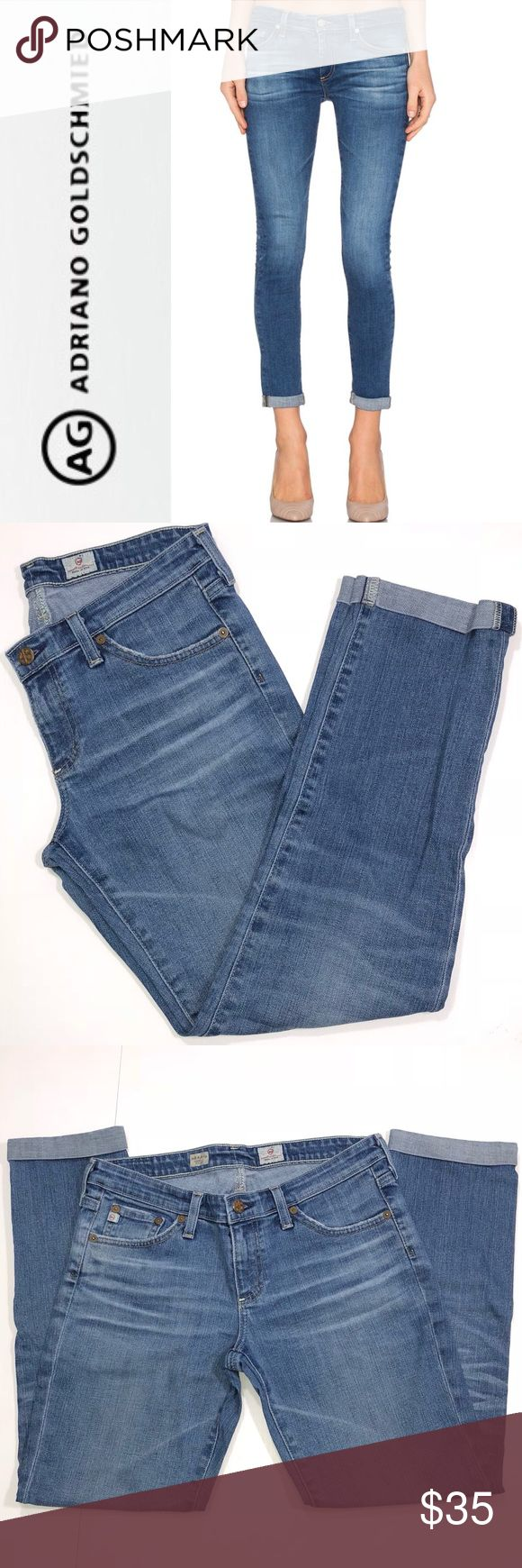 """AG Stilt Roll-Up Cigarette Jeans ✔️98% Cotton•2% Polyurethane ✔️Inseam: 26.75"""" ✔️No Holes, Stains or Damages ✔️1624-9 Ag Adriano Goldschmied Jeans"""