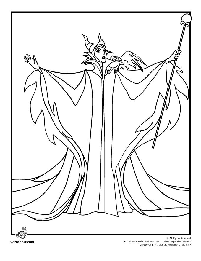 Sleeping Beauty Coloring Pages Maleficent Page Cartoon Jr
