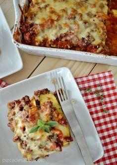 Lasaña de calabacita ligera (sin pasta, sin carbohidratos, sin gluten) www.pizcadesabor.com