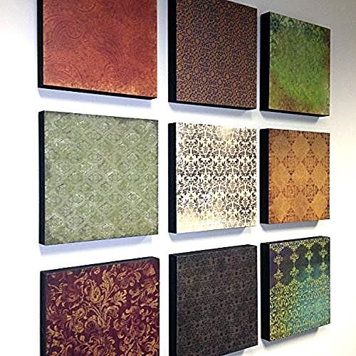 DIY How to Create High End Restoration Hardwood Styled Wall Art From Scrapbook Paper ! This is Genious , Quick And Turns out AMAZING !!