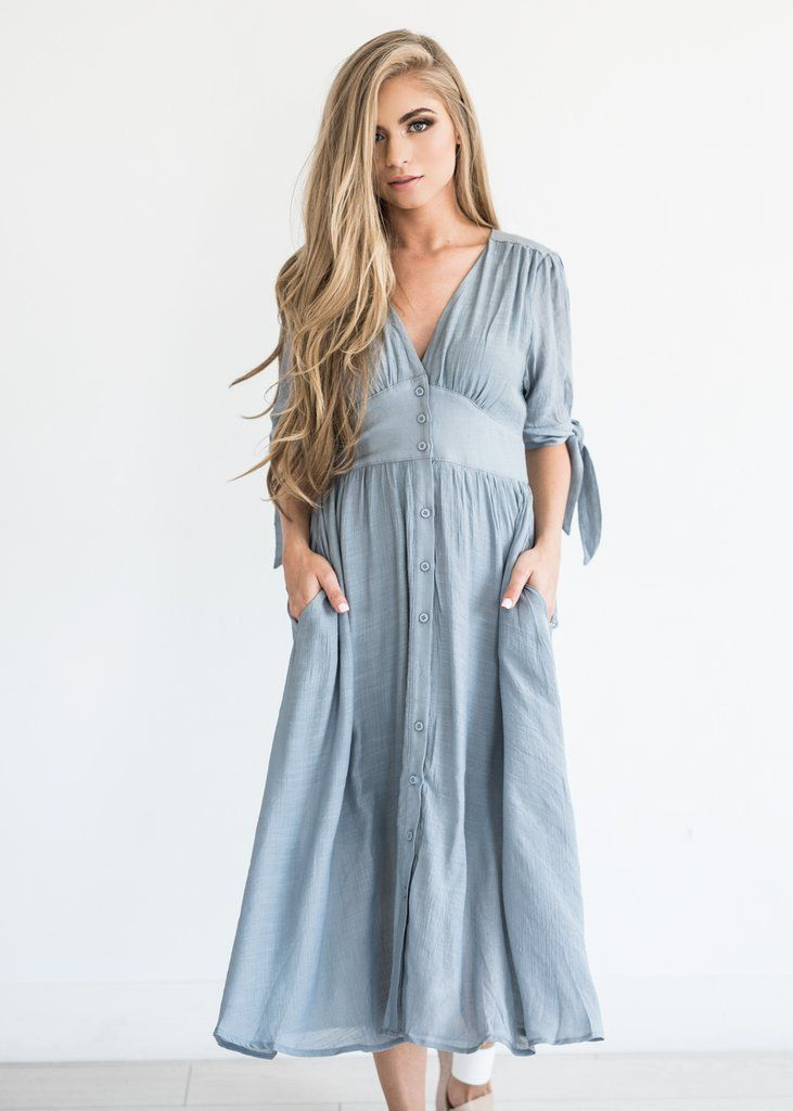 254adf90501 Button Down Dress in Lucerne Wind | Family photo Outfits | Dresses ...