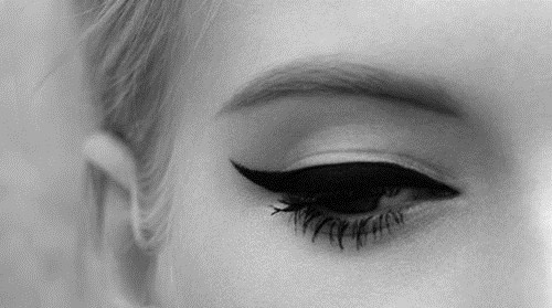 My eyeliner is always and forever: black, thick, and wing tipped.