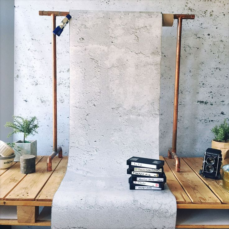 Concrete Sandy Gray Wallpaper by WYNIL: easy interior design ideas for an architectural, industrial, pure look in your home or office.
