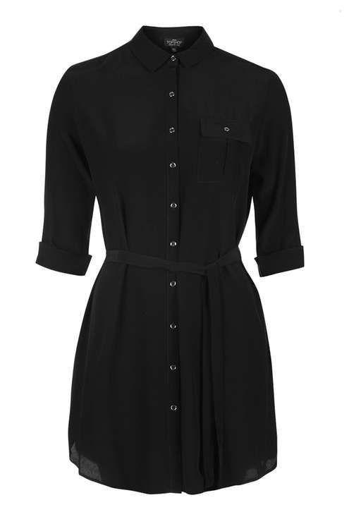 PETITE Belted Shirtdress - Street Fashion