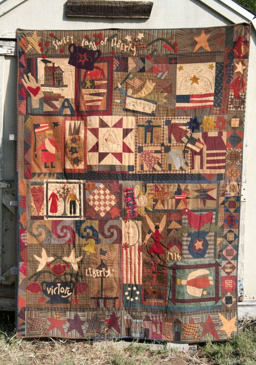 229 best primitive quilts images on Pinterest | Basket, Bags and ... : primitive quilting - Adamdwight.com