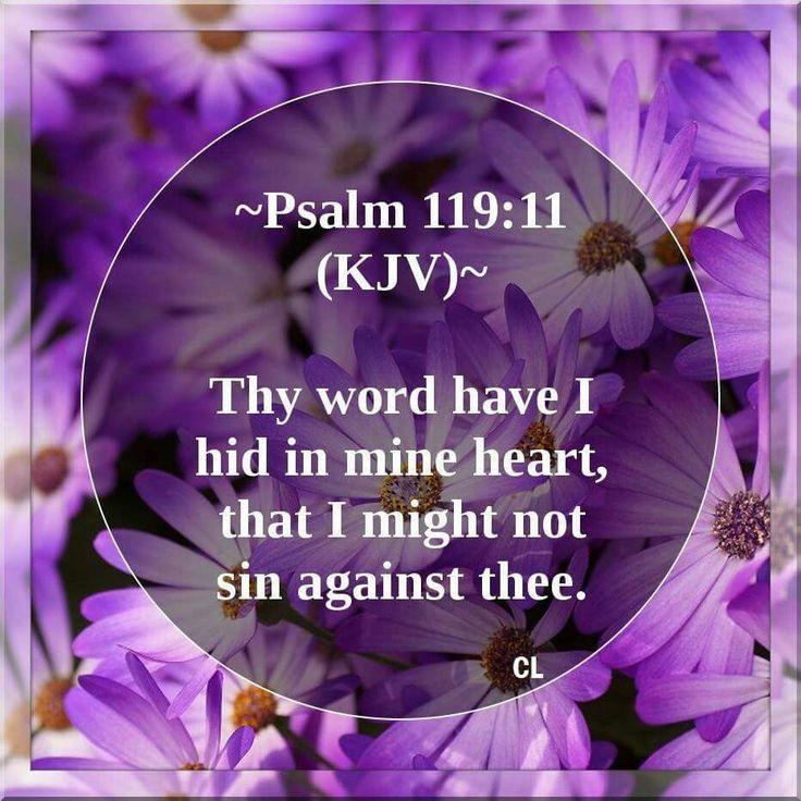 Psalm 119:11 KJV