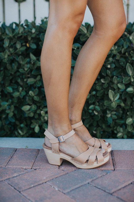 Tom's Sandstorm Leather Beatrix Clog Sandals