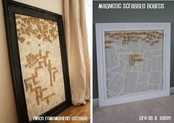 life as a Losey: Pinterest Challenge: Magnetic Scrabble Board