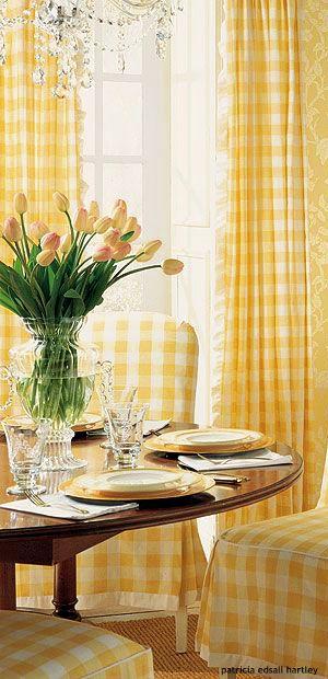 Charming yellow gingham