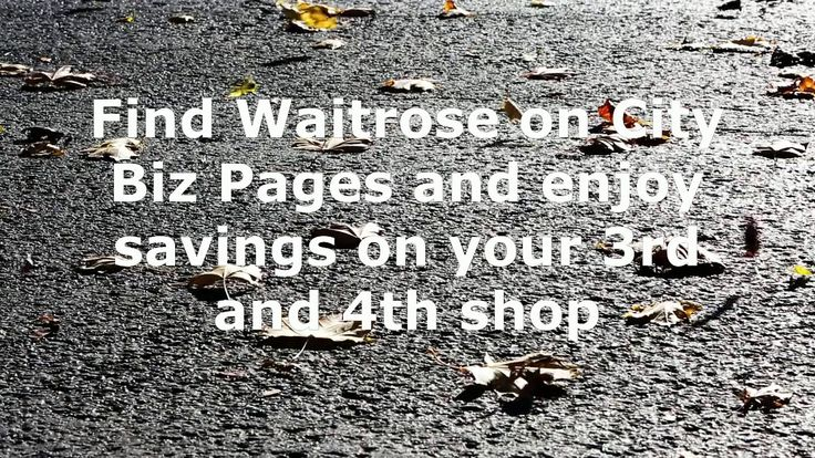 Search for Waitrose Grocery on Citybizpages