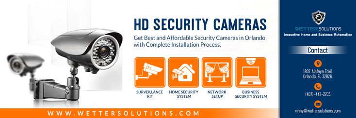 Now buy wide range of HD Security Cameras in Orlando from Wetter Solutions at affordable rates. They deals with various security camera brands and offer security camera installation service in Orlando, Florida area. Mainly they provide business security cameras, CCTV kit, home security cameras, IP network security cameras etc.