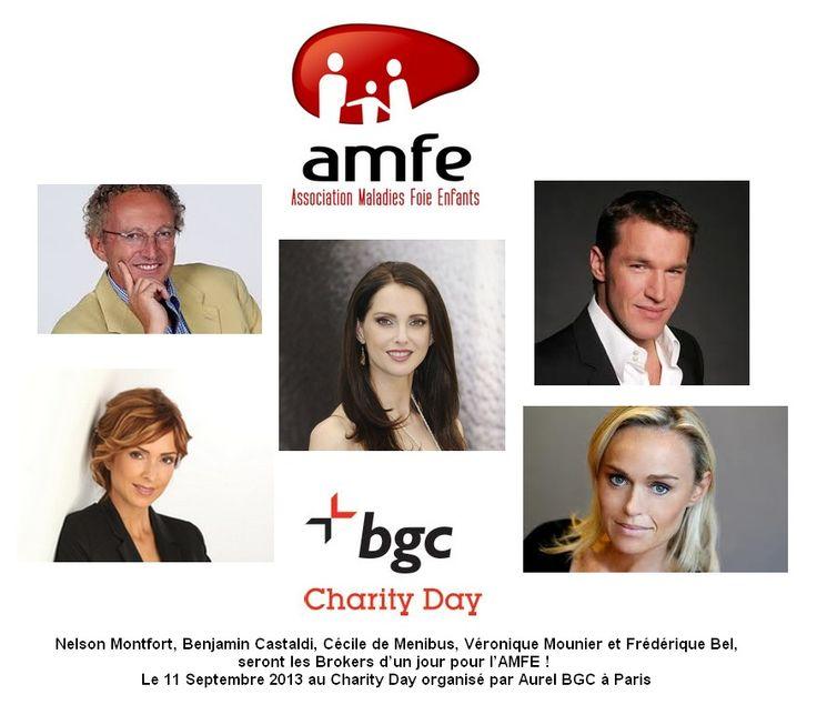 L'AMFE, participe au Charity Day 2013 d'Aurel BGC avec Frédérique Bel, Cécile de Ménibus, Véronique Mounier, Benjamin Castaldi et Nelson Montfort
