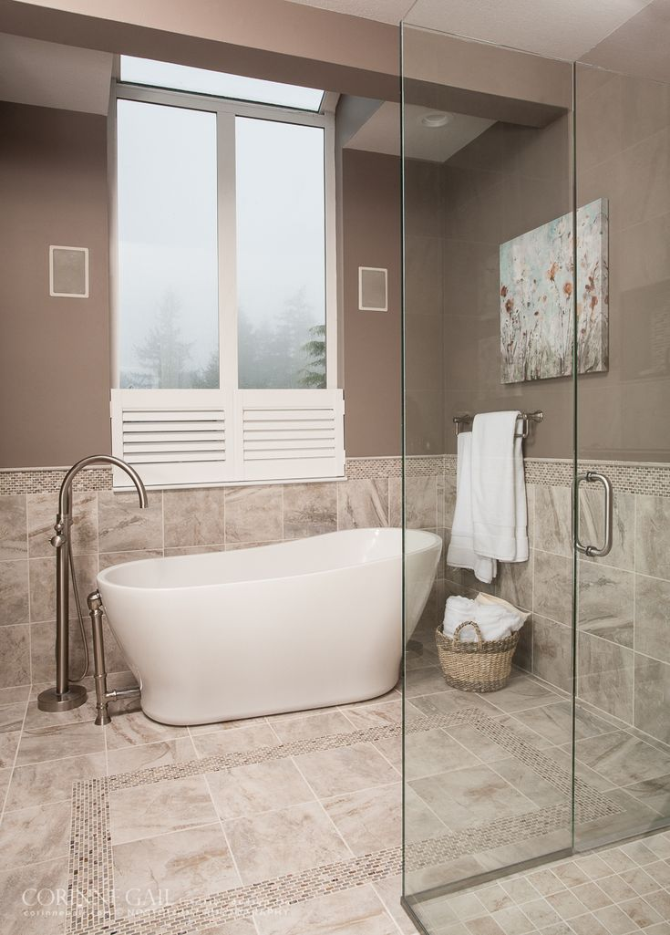 Bathroom freestanding tub and filler — Corinne G…