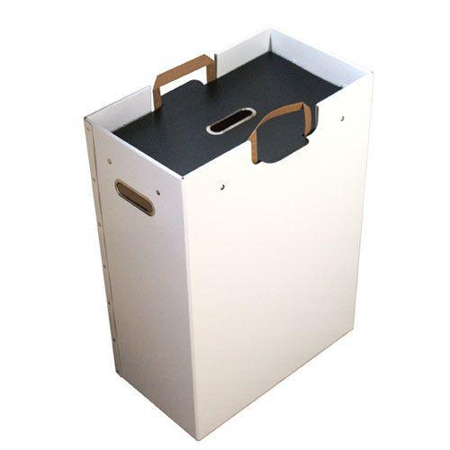 Returbox, anpassad för papperskasse