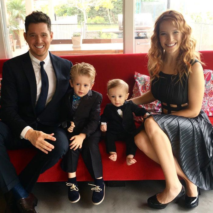 "Michael Buble looked dapper in a suit alongside his smartly dressed sons, Noah and Elias, as he wished his Argentine-born wife, Luisana Lopilato, a happy Mother's Day, celebrated in her country on October 15. Attached to the family portrait, the singer penned, ""#myhero #bestmommy #bestfriend."""