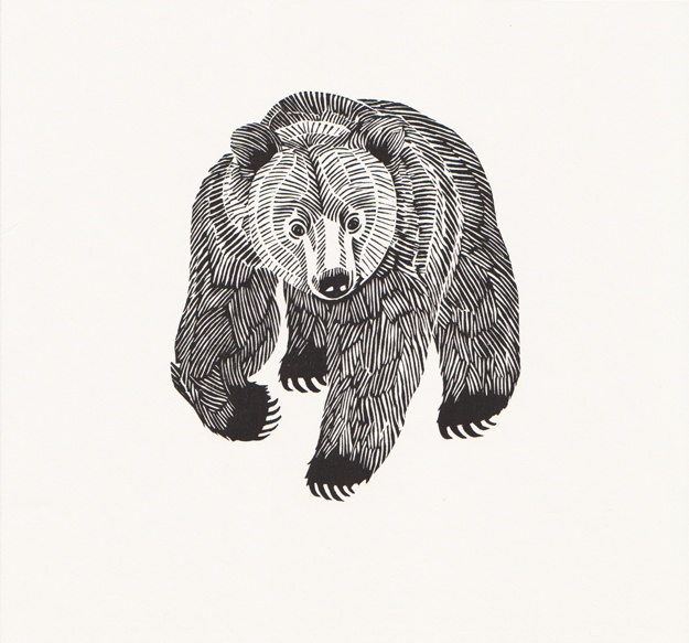 Graham Blair | Bear (printed on handmade Japanese kozo paper) I just bought this print!