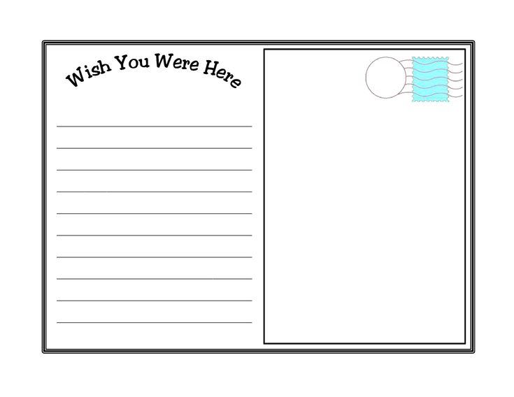 Best 25+ Postcard template ideas on Pinterest Sending postcards - postcard template free printable