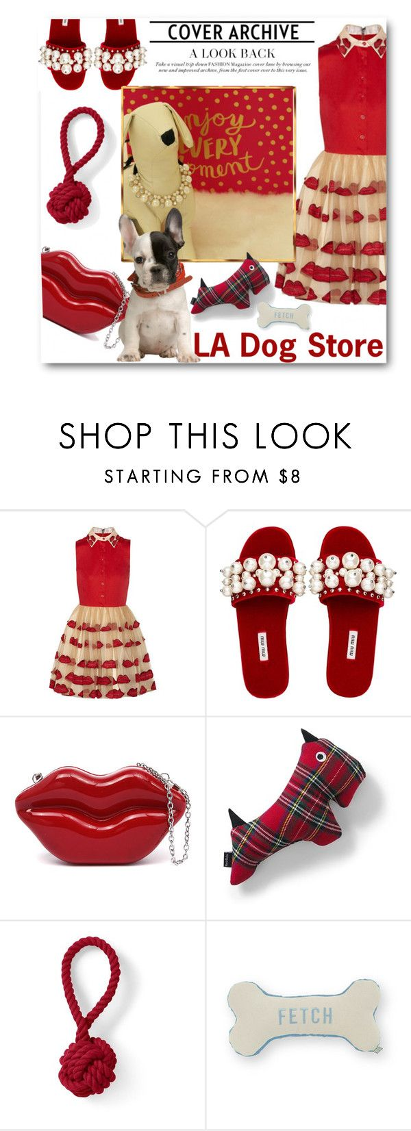 """LA Dog Store"" by ladogstores ❤ liked on Polyvore featuring Miu Miu, Lands' End and Draper James"