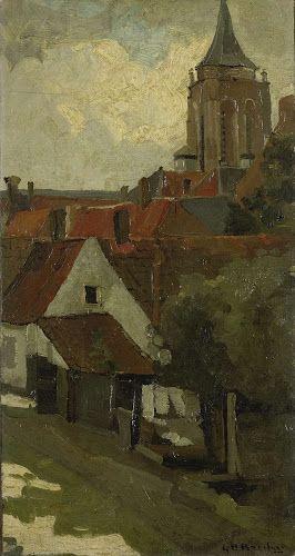 De toren van Gorkum (George Hendrik Breitner, c. 1880 - ca. 1908, Rijksmuseum, Amsterdam)
