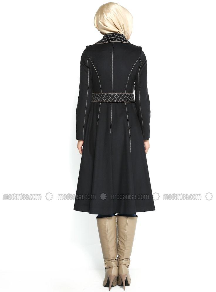 Traversez Manteau à motifs - Lacivert- Bufe de