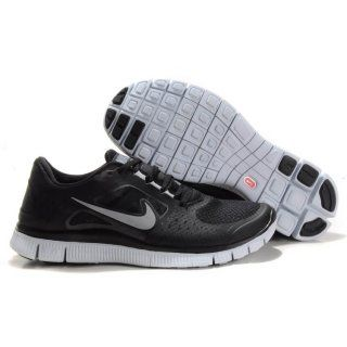 Billig Classic 2012 Menn Nike Free Run 3 Svart Hvit