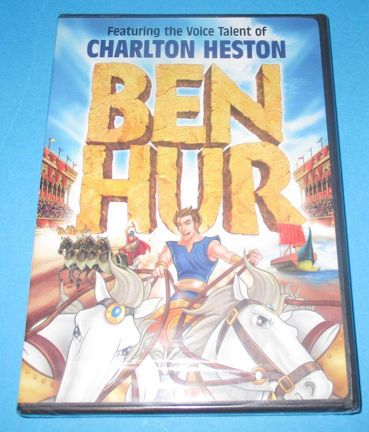 Ben Hur  DVD, 2003 - BRAND NEW -SEALED, Animated Charlton Heston FREE SHIP! #benhur #charltonheston #animated #children #kids #Movies http://www.ebay.com/usr/vinylrockretro