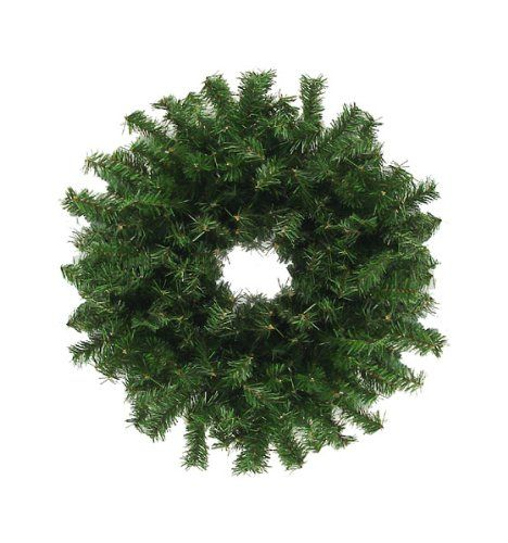 """$14.99-$29.99 30"""" Canadian Pine Artificial Christmas Wreath Item #MC-1114  The Canadian pine wreath is a holiday staple.  It's the ideal way to add classic holiday style to your front door or mantle Features a heavy duty metal frame backing for hanging and bendable wire for easy shaping to help accommodate your decorating needs  Additional product features: Unlit 300 tips Natural 2-tone green co ..."""