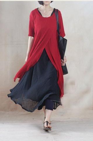Linen Top in Red