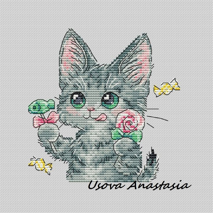 Cross Stitch Pattern Sweet Tooth PDF file Instant Download