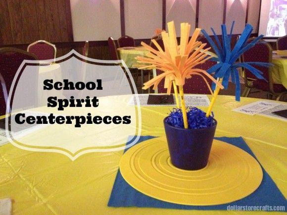 Craft Project School Spirit Centerpieces Events
