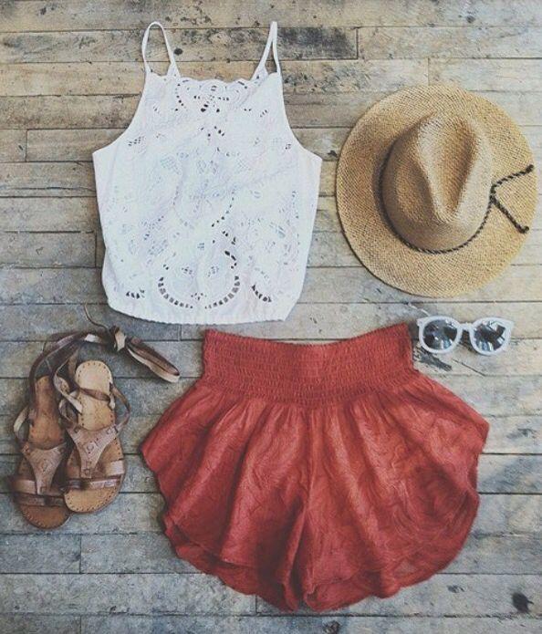 ☮ American Hippie Bohéme ☮ Summer Festival Boho ☮ Outfit