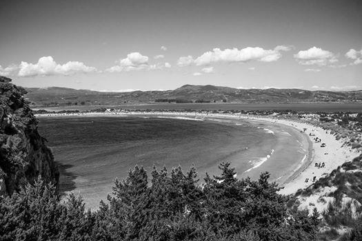 Have a great weekend! Black & White view to Voidokoilia beach (photo: Dionysia Mpousdouka) #pylos #navarino #messinia