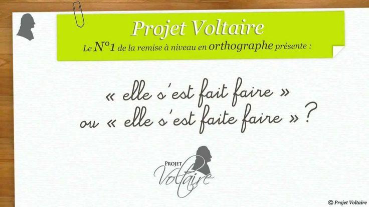 Explication proposée par le Projet Voltaire, n° 1 de la remise à niveau en orthographe (http://www.projet-voltaire.fr) et de la certification  (http://www.certification-voltaire.fr). #grammaire  #participe_passé